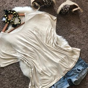 H & M, Gold Shimmer,  Oversized Top! Large